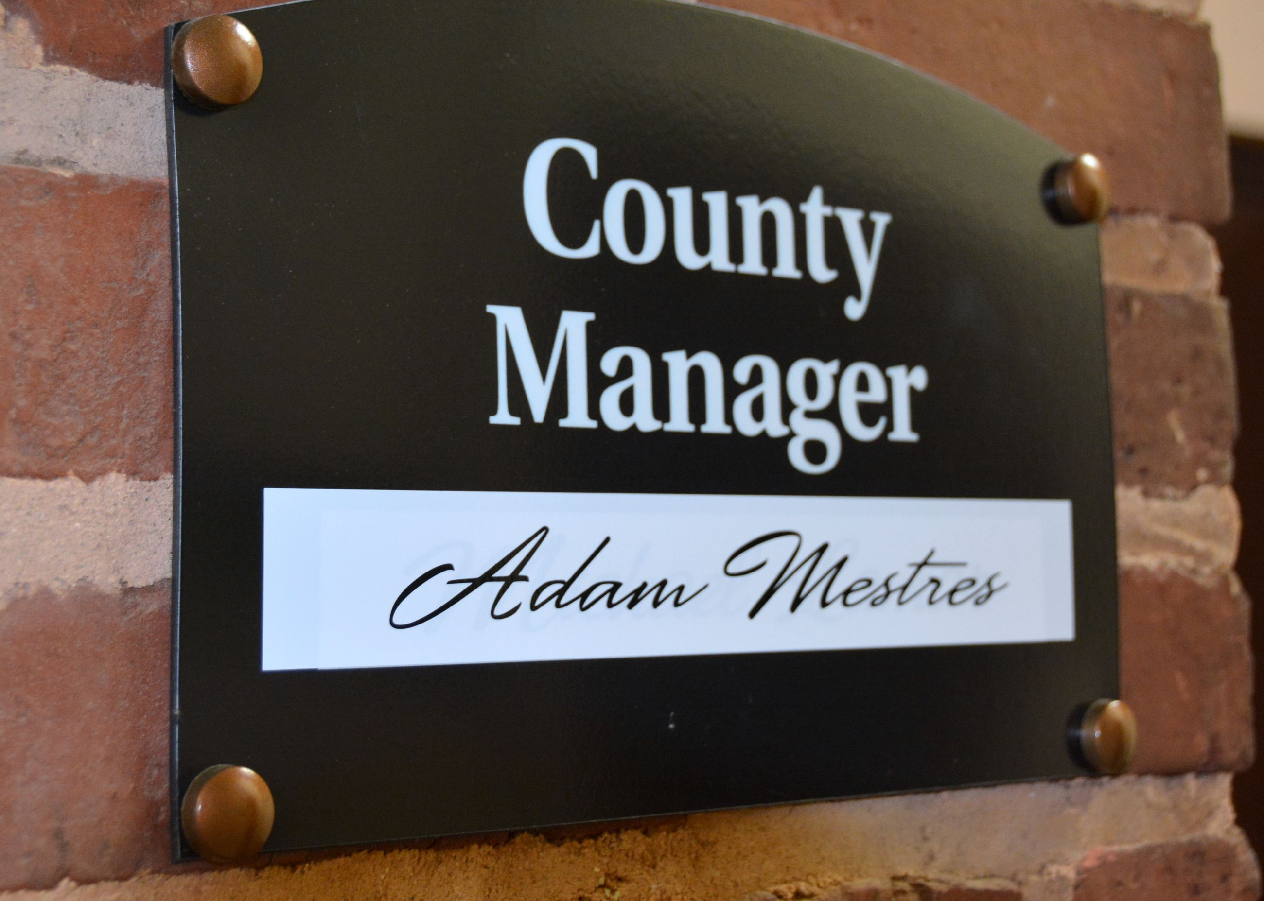 County Manager Sign